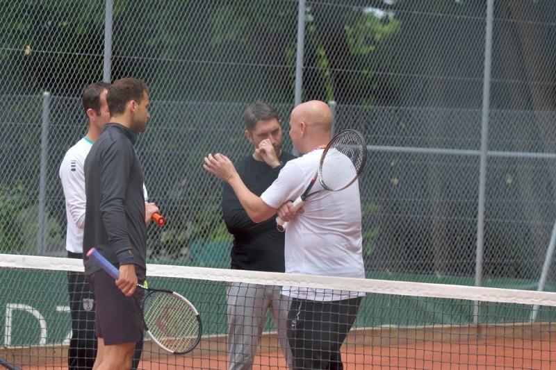 ATP - Genève (Q) - Andre Agassi au chevet de Grigor Dimitrov