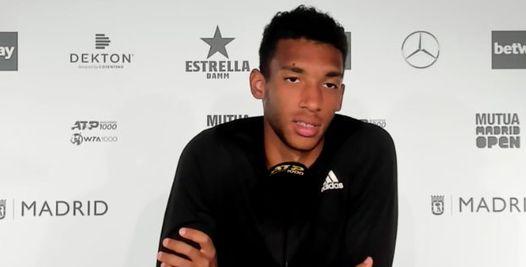 ATP - Madrid - Auger-Aliassime : 'Ceux de ma génération s'améliorent'