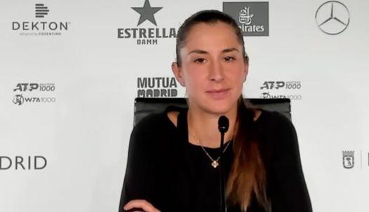 WTA - Madrid - Belinda Bencic : 'Madrid, ça ressemble à de l'indoor'