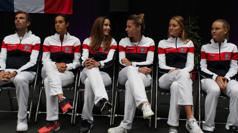 Fed Cup - Liège, Belgique-France : des sourires et des femmes