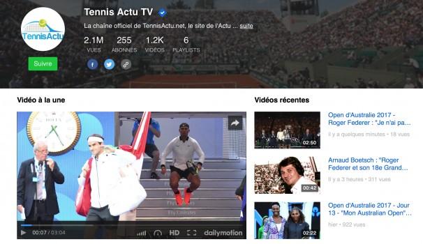 Média  - Toutes vos vidéos Tennis avec et sur Tennis Actu TV