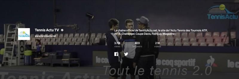 Média - Vos vidéos Tennis c'est à revoir : sur Tennis Actu TV
