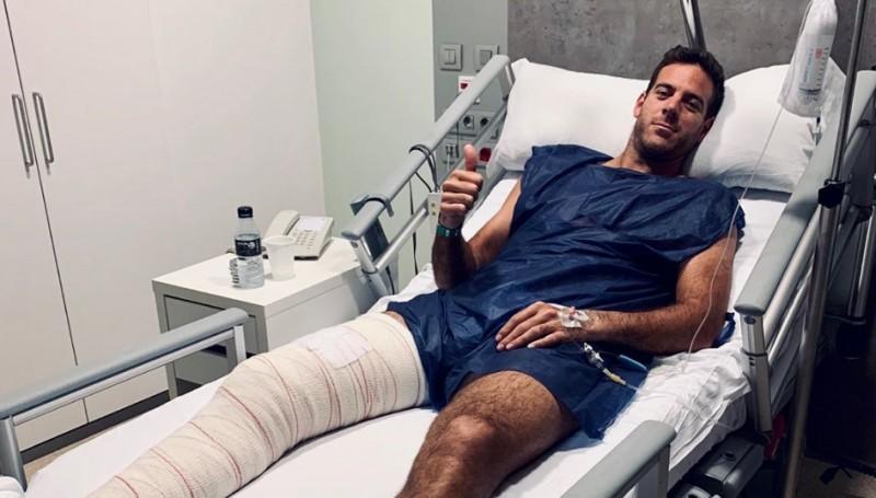 ATP - Juan Martin Del Potro : 'L'opération s'est bien déroulée'