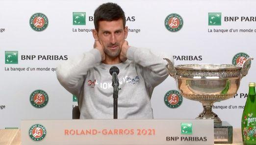 Roland-Garros - Djokovic : 'Je suis à côté de Nadal et Federer...'