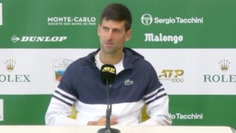 ATP - Monte-Carlo - Novak Djokovic : 'Je n'aime pas les comparaisons'