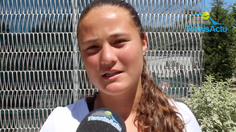 Roland-Garros (J) - Aubane Droguet, 16 ans, sa 1ère à Roland