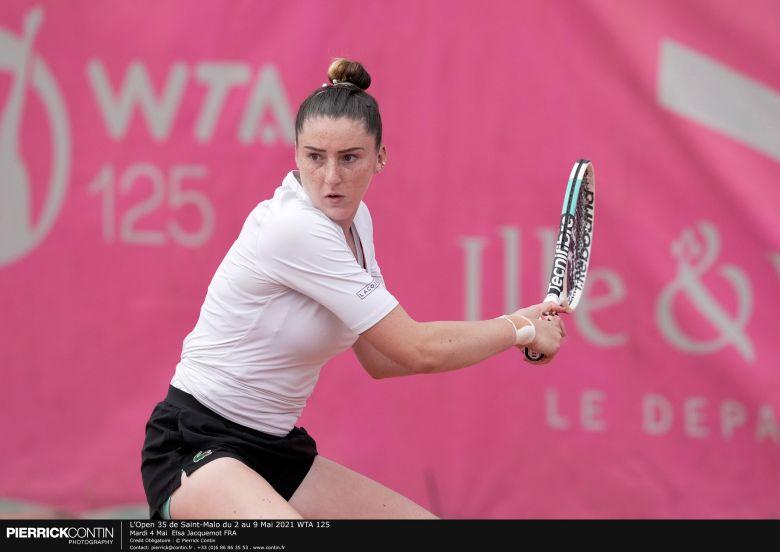 WTA - Saint-Malo - Jacquemot et Adrianjafitrimo plient, Hesse en cours