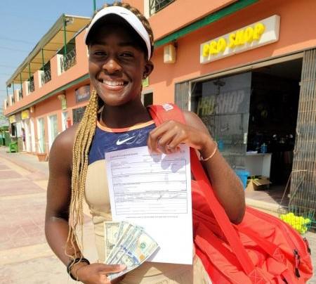 Caire (W15) - Clervie Ngounoue, à 14 ans, gagne son 1er prize money